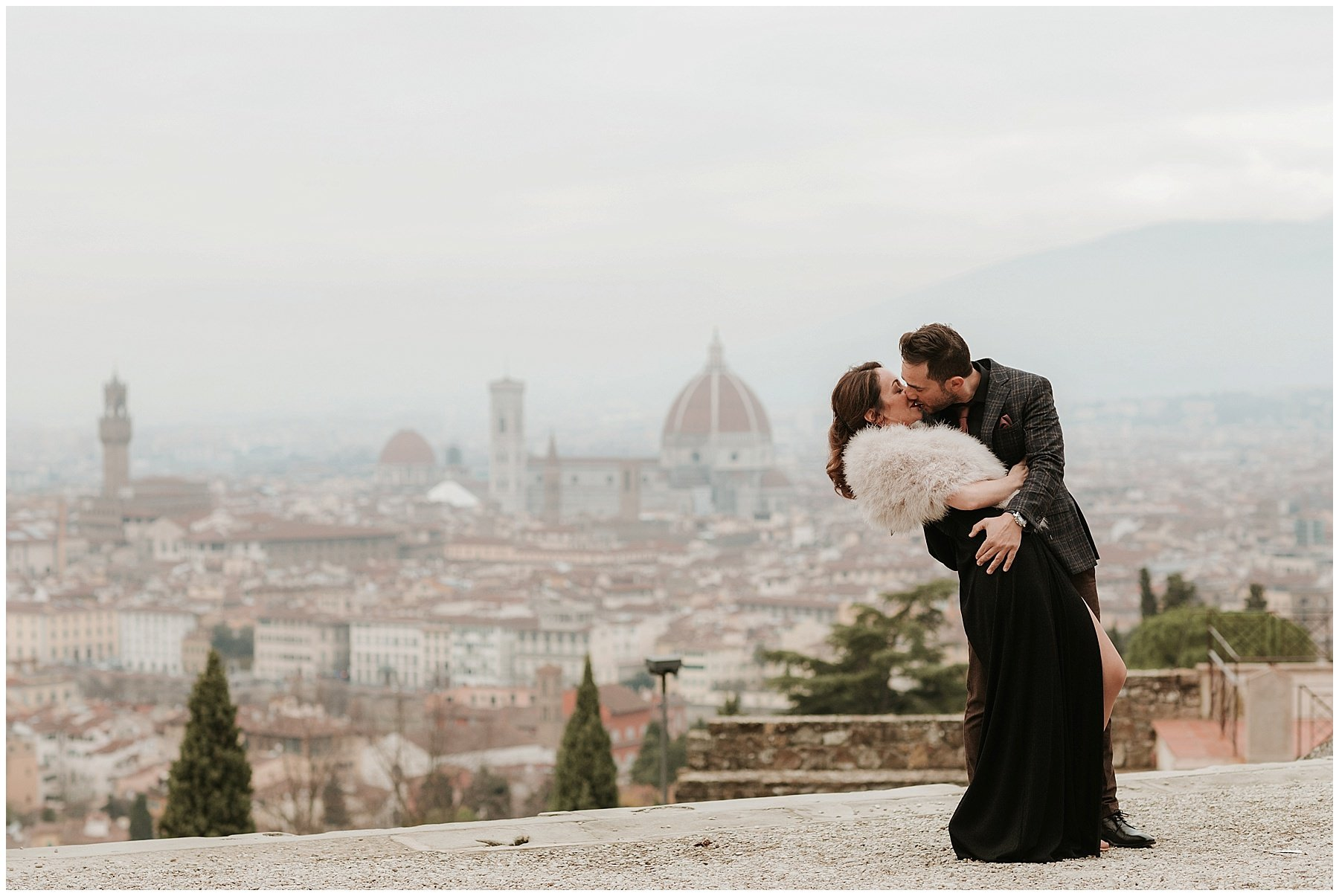Celebrate your love with winter engagement photos in Florence
